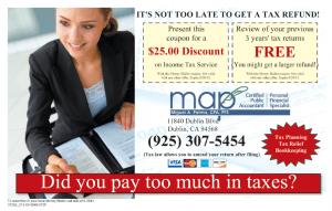 Tax Service Discount Coupon
