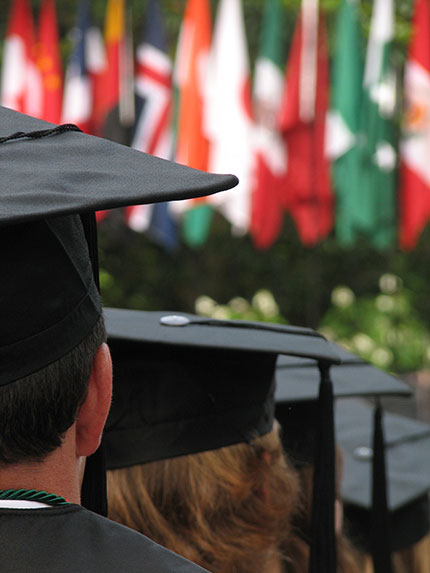 College graduation made possible by successful college planning