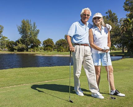 Retired couple has time to golf, thanks to retirement planning services in Dublin California