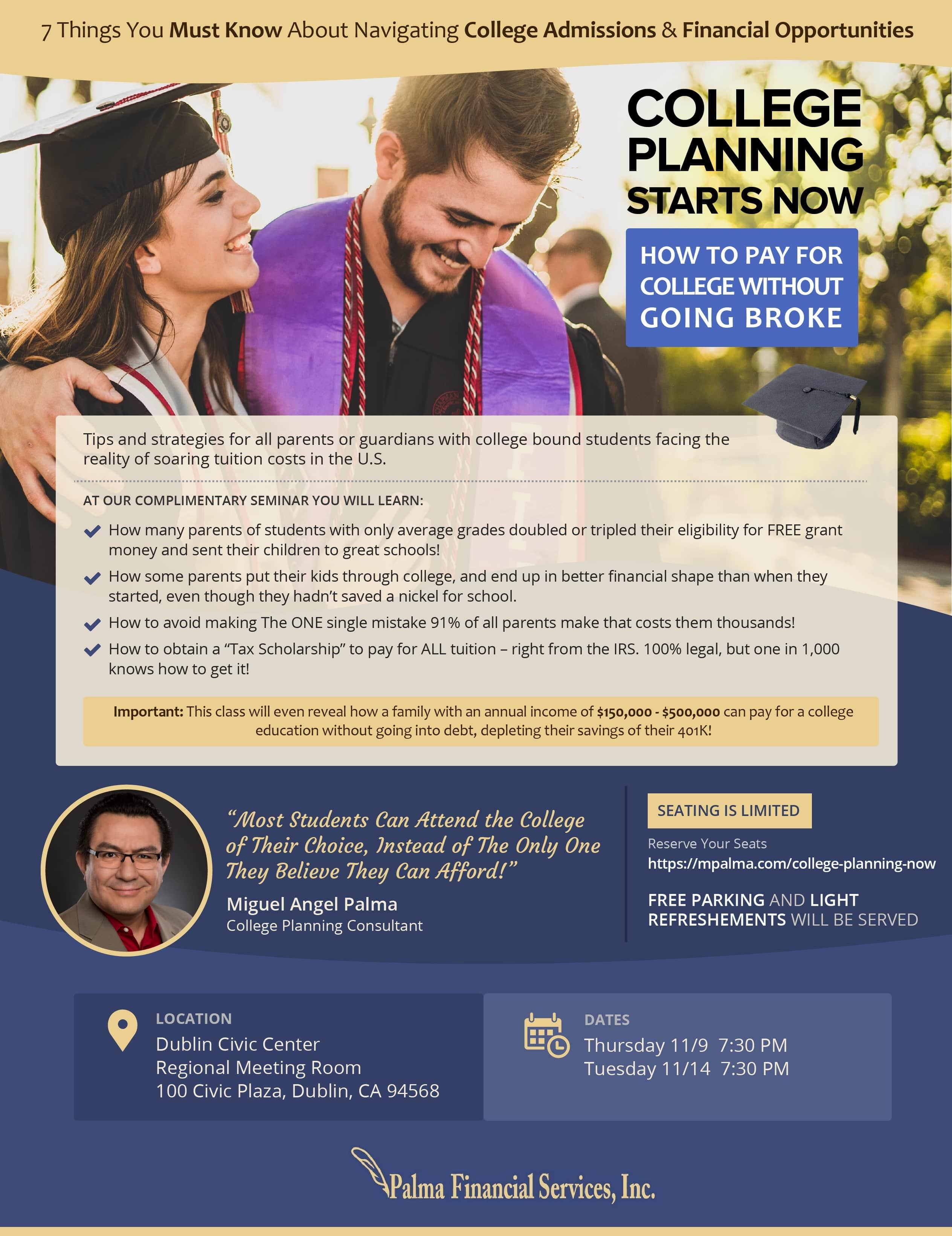 Nov 2017 College Planning Seminar