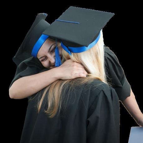 graduation hug
